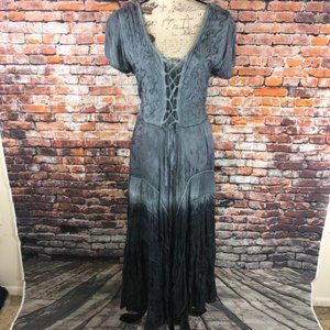 Gray ombre boho cottagecore maxi dress